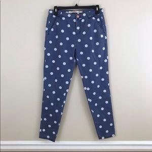 Zara skinny polka dot cotton pants